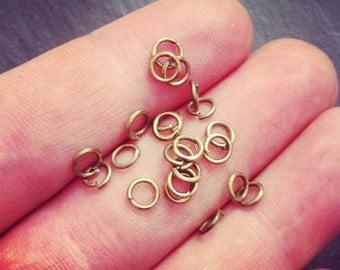 Vintage brass jump rings