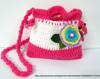 Purse girl,Crochet Purse,crocheted bag,Crochet Clutch,Girl Crochet Purse.Crochet bag for girls
