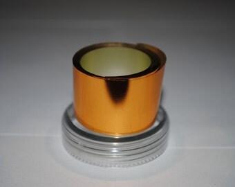 Sale! 3 meters Orange Bronze Metallized foil film coating for nails
