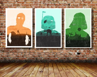 Trilogy of Star Wars Limited Edition Art Prints