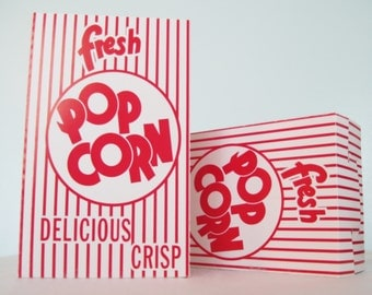 25 retro popcorn boxesred pop corn boxparty favor boxred and
