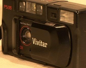 Vivitar PS-35 Auto Focus Camera w/DX 1:3.8 35mm Lens