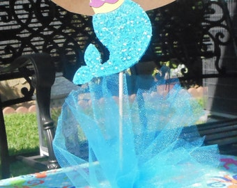 Adorable Mermaid Centerpiece Topper
