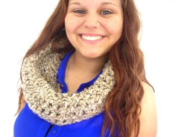 scarf, cowl collar, soft neck warmer, crochet