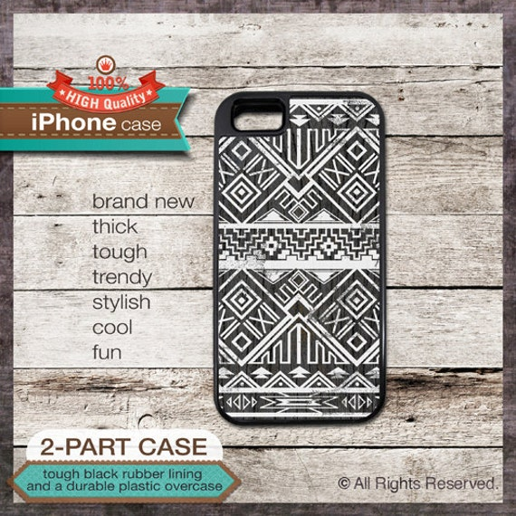 iPhone 6, 6+, 5 5S, 5C, 4 4S, Samsung Galaxy S3, S4 - Tribal Navajo Pattern - Design Cover 37