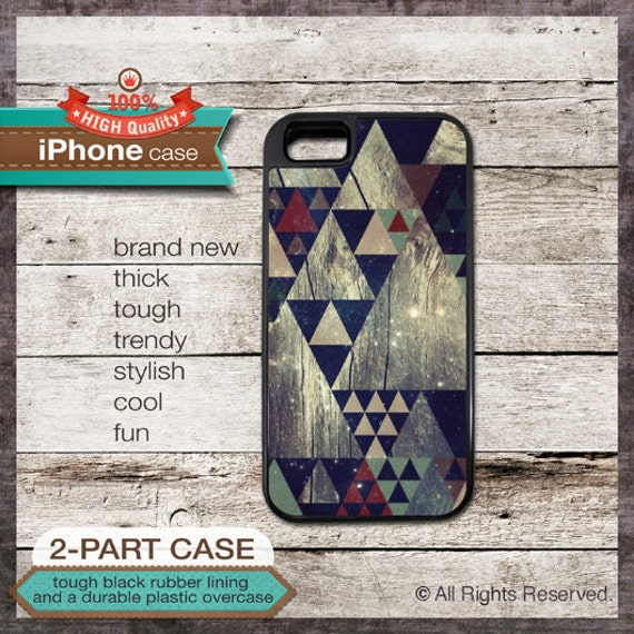 iPhone 6, 6+, 5 5S, 5C, 4 4S, Samsung Galaxy S3, S4 - Triangle Galaxy Pattern - Design Cover 52