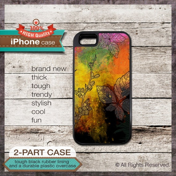 Flower on paint design - iPhone 6, 6+, 5 5S, 5C, 4 4S, Samsung Galaxy S3, S4 - Cover 111