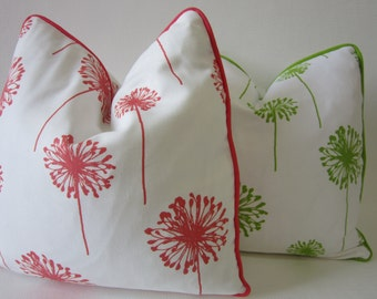 ONE  HOME DECORATIVE pillows  with piping - home and living decor.Dandelion.Housewares.Homedecor accent.