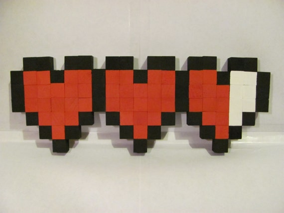 8 bit heart container wall decor for 8 bit decoration