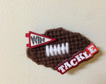 Football magnet needlepoint plastic canvas