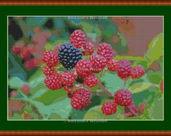 "Cross stitch chart ""Brombeeren"""