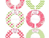 Custom Closet Dividers Baby Closet Dividers Hot Pink Green Floral Flowers Girl Baby Shower Gift Closet Organizers Baby Girl Nursery 023