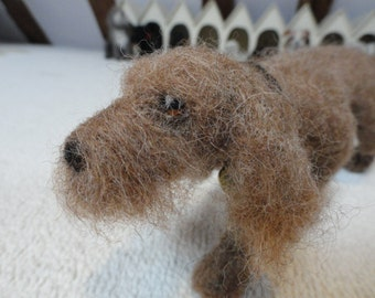 needle felted dog called Ralph
