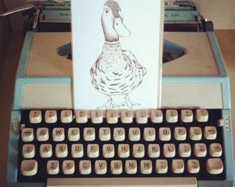 Mr Duck Greetings Card.