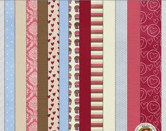 Fresh From the Oven Digital Paper Scrapbooking Set