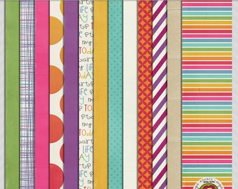 I Work Out Digital Paper Scrapbooking Set