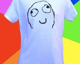 Derp Rage Face Internet Meme T-Shirt