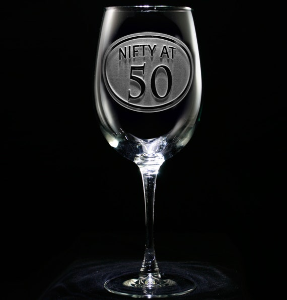 50th Birthday Wine Glass, Birthday Gift Ideas