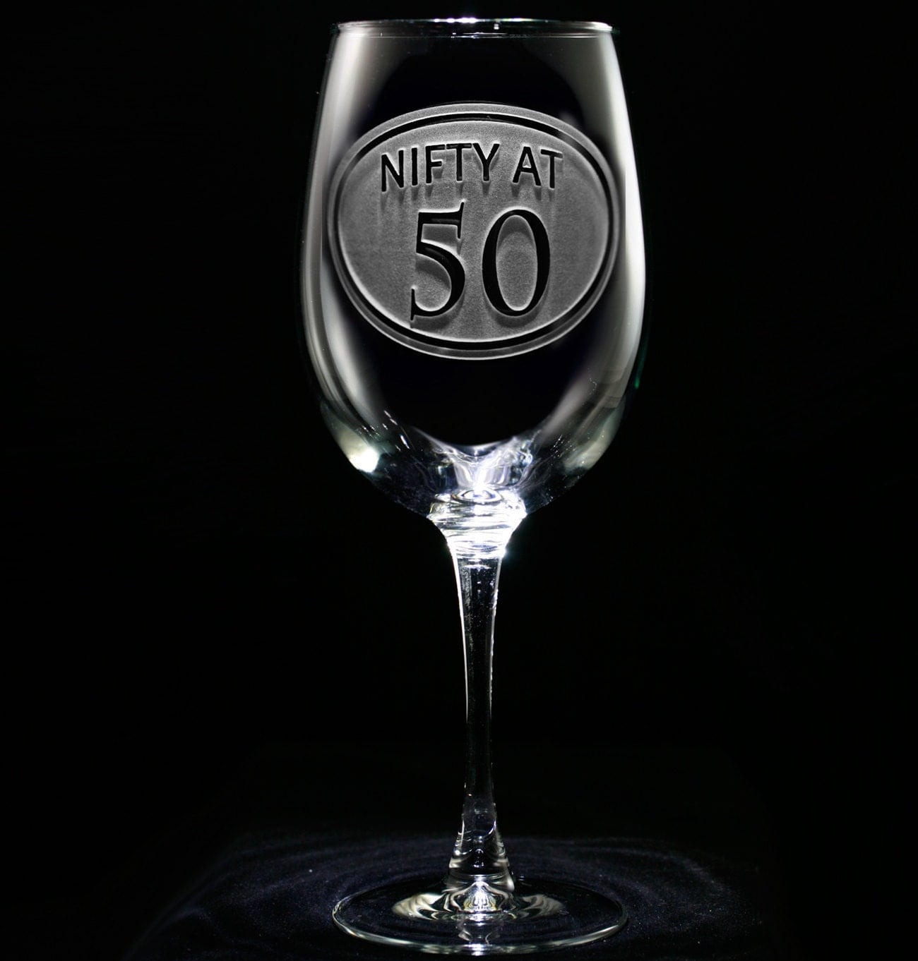 50th Birthday Wine Glass Birthday Gift Ideas