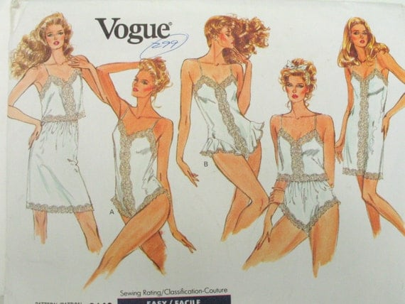 Vogue panties pattern vintage lingerie pattern vogue 2146 sizes l xl
