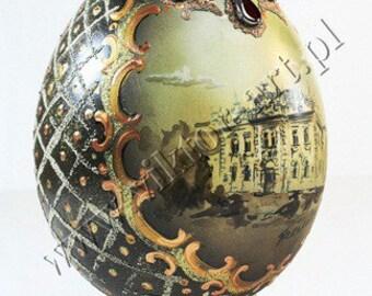 A'la Faberge Egg - European Architecture Painting - Gold