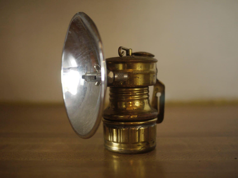Vintage Butterfly Carbide Brass Miners Lamp Safesport Denver