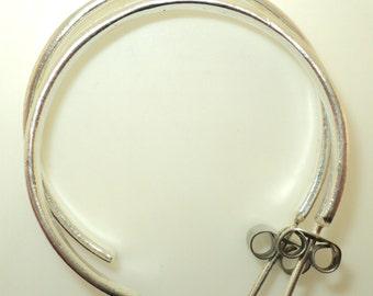 Sterling Silver - Hand Crafted Hoop Earrings