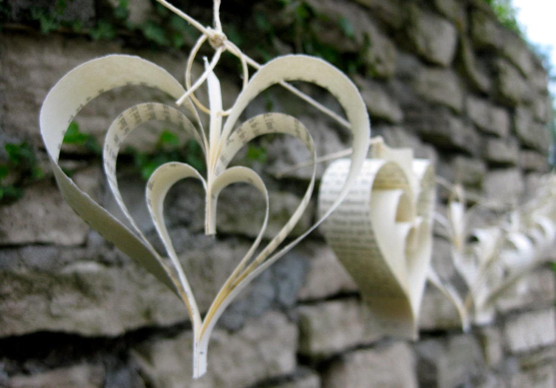 paper heart garland 10ft wedding decor wedding. Black Bedroom Furniture Sets. Home Design Ideas