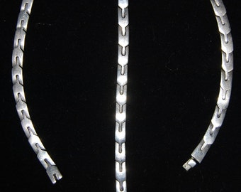 mexican sterling necklace and bracelet 950