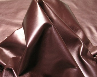 ITALIAN Lambskin Leather Hide Buttery Soft 100% Genuine Lamb Skin Supplier, Pearlized Eggplant, 1 Sq. Ft. = Approx Surf 12″ W X 12″ L