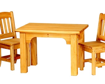 Hand built children's table and chair set.