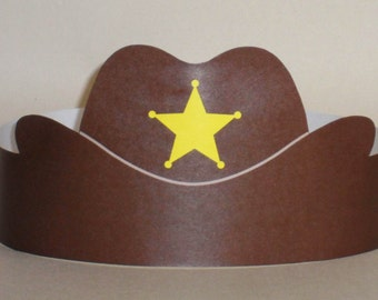 Cowboy Paper Crown - Printable