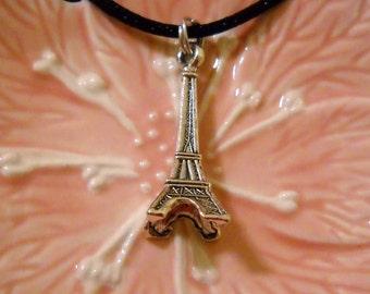 Tibetan Silver Eiffel Tower Necklace
