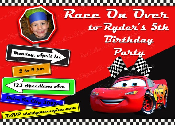 Disney Cars Invitation with adorable invitations ideas