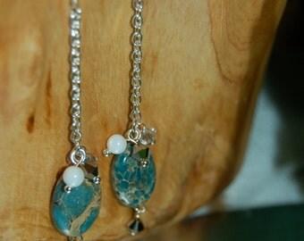 Drapey Chain Earrings Set