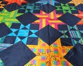 Brightly Colored Geometric Quilt