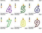 Birthday Numbers Machine Embroidery Fonts  1003