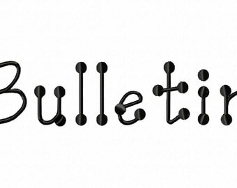 Bulletin Machine Embroidery Fonts 1102