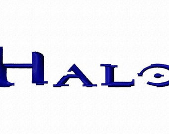 Halo Machine Embroidery Fonts 1237