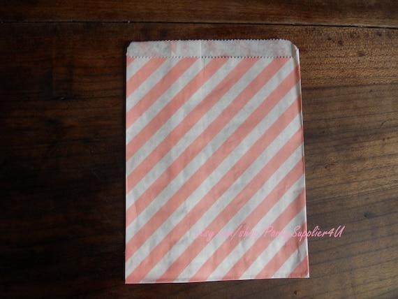 Wedding Favor Bags Coral : ... Favor Bags-Stripe Candy Favor Bag-Pale Pink Favor Bag-Wedding Favor