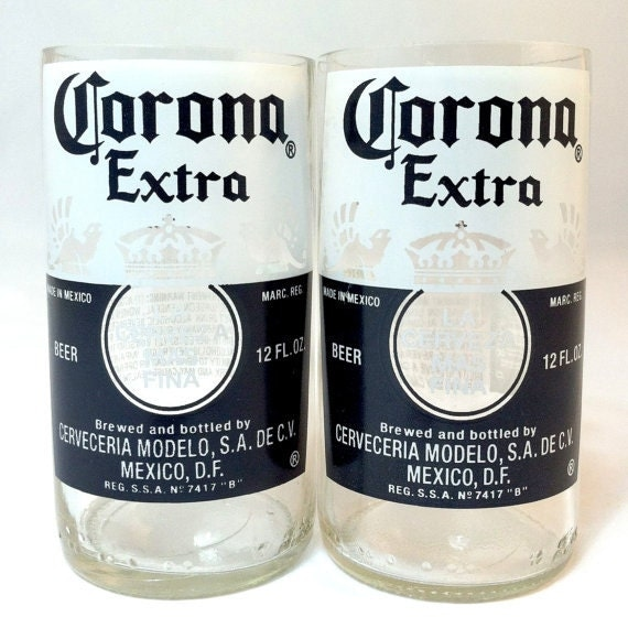 Items similar to real corona beer bottles glasses made for How to make corona glasses