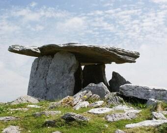 Scenic Ireland-Poulnabrone Dolmen (Portal Tomb), Co. Clare