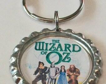 Fun Wizard of Oz Inspired Metal Flattened Bottlecap Keychain