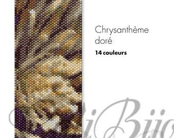 Crysanthème doré -  PEYOTEE PATTERN