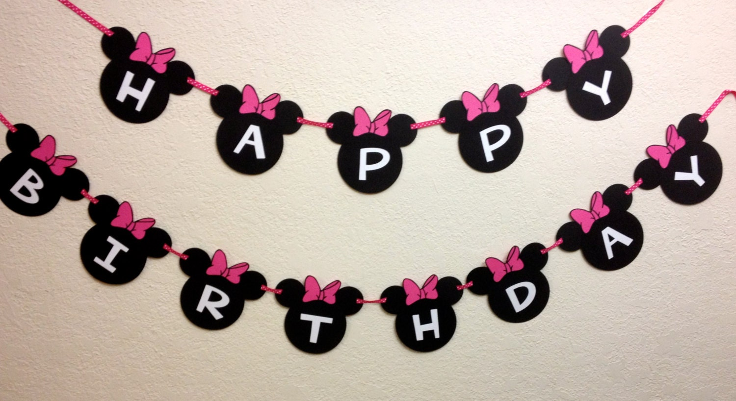 minnie mouse birthday decorations banner happy birthday with