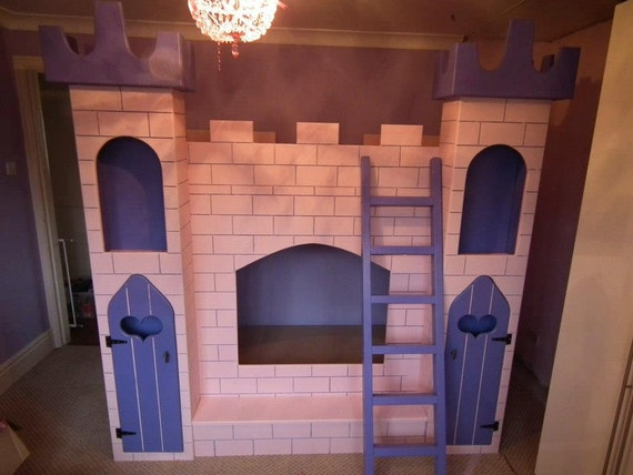 Items similar to Princess castle bunk bed on Etsy