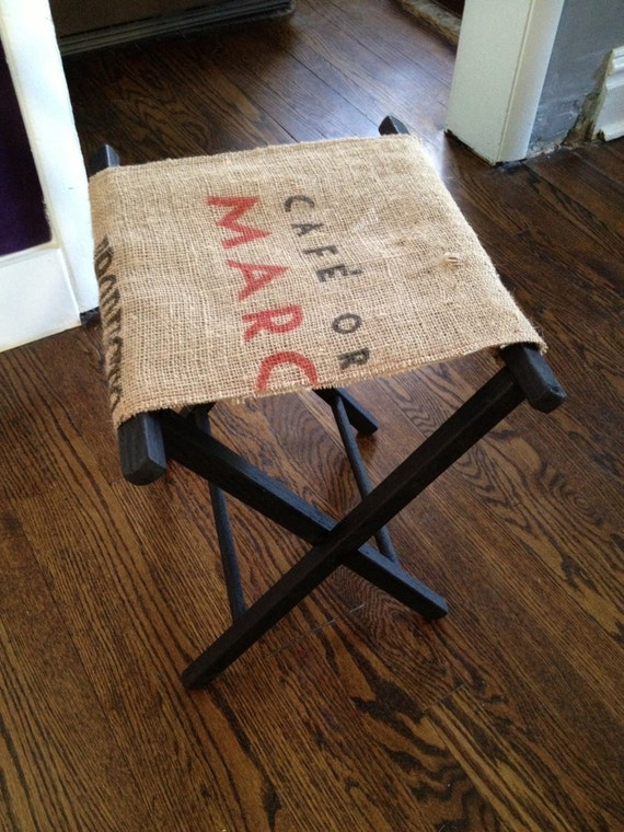 Reserved For Mac Upcycled Organic Coffee Sack Folding Camping