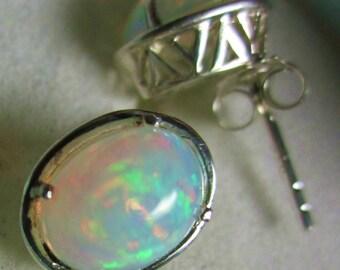 ON HOLD_3ct wella opal fine filigree sterling silver .925 stunning earrings