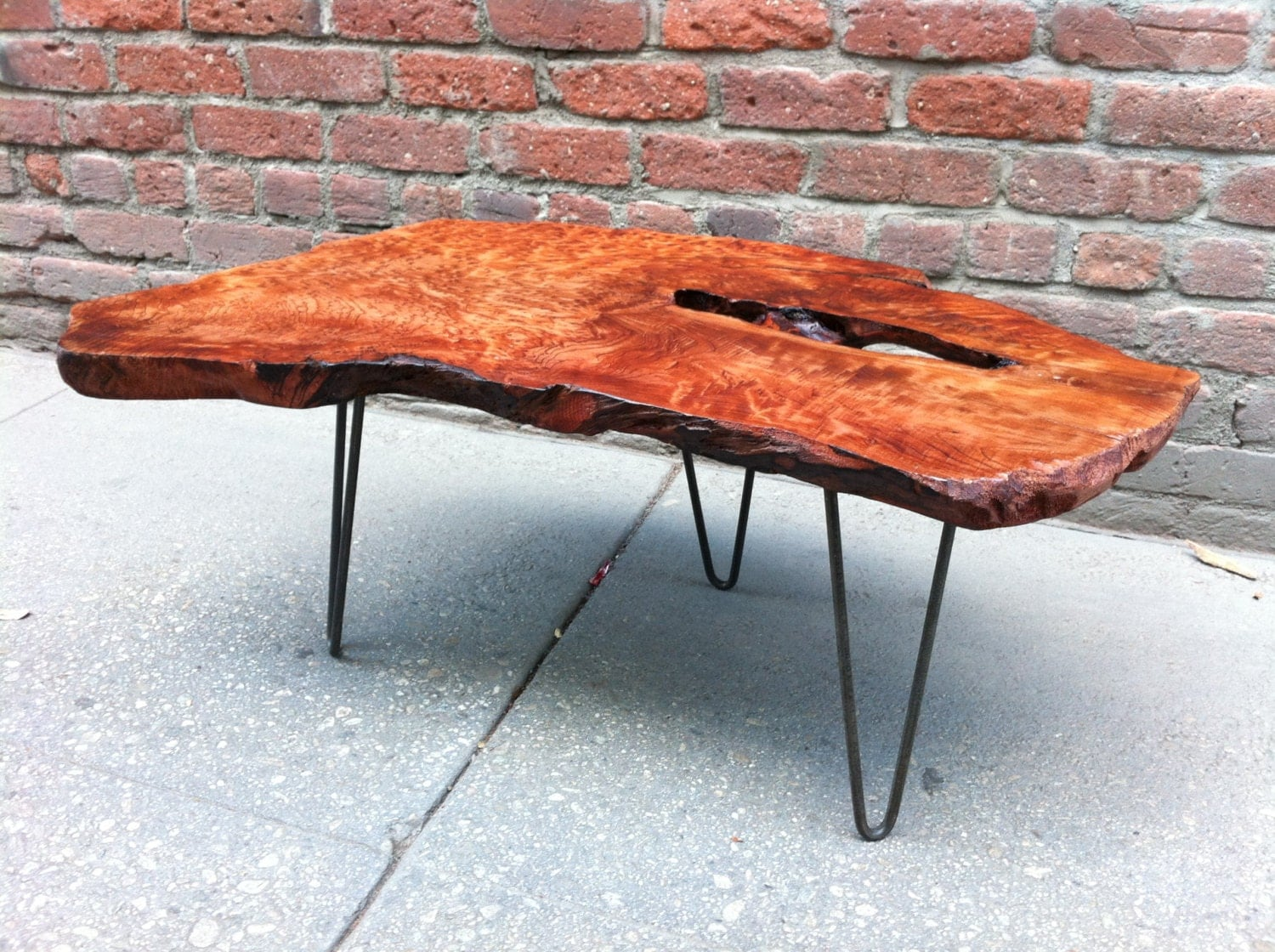 Sold Redwood Burl Coffee Table With Live Edge And Amazing