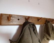Rustic chunky vintage style pine coat pegs , wooden coat rack, towel rack, coat hooks